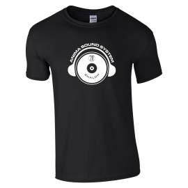 Anima Sound System - Shalom 20th póló férfi fekete